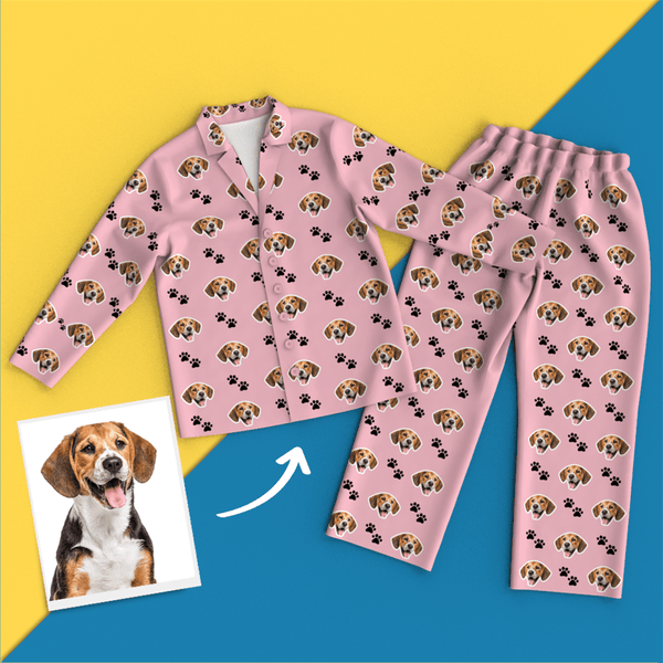 Custom Face Pajamas - Pet Footprint