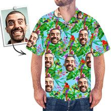 Custom Girlfriend Face Shirt Men's All Over Print Hawaiian Shirt Parrot