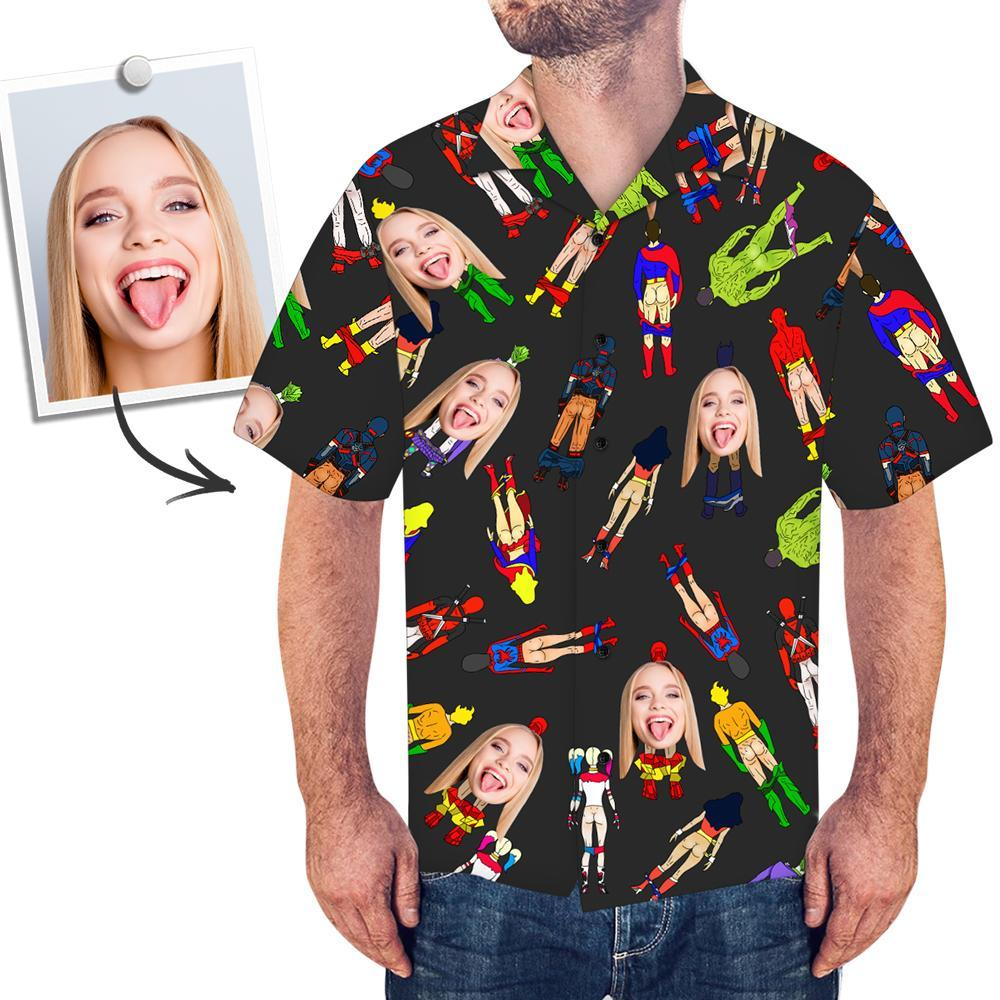 Custom Face Shirt Men's All Over Print Hawaiian Shirt Sexy