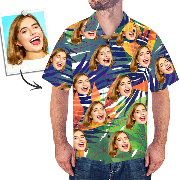 Custom Face Shirt Men's All Over Print Hawaiian Shirt for Him