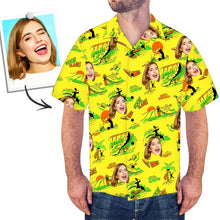 Custom Face Hawaiian Shirt Surfing
