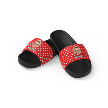 Custom Face Women's Slide Sandals With Name