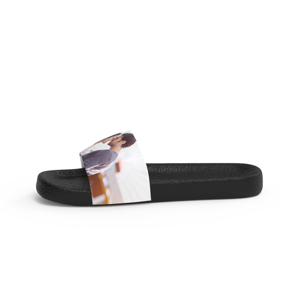 Custom Couple Photo Men's Slide Sandals