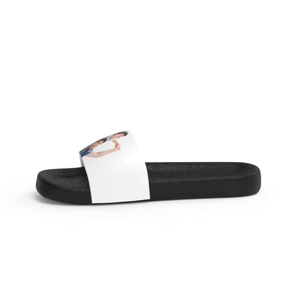 Custom Photo Men's Slide Sandals with Kids