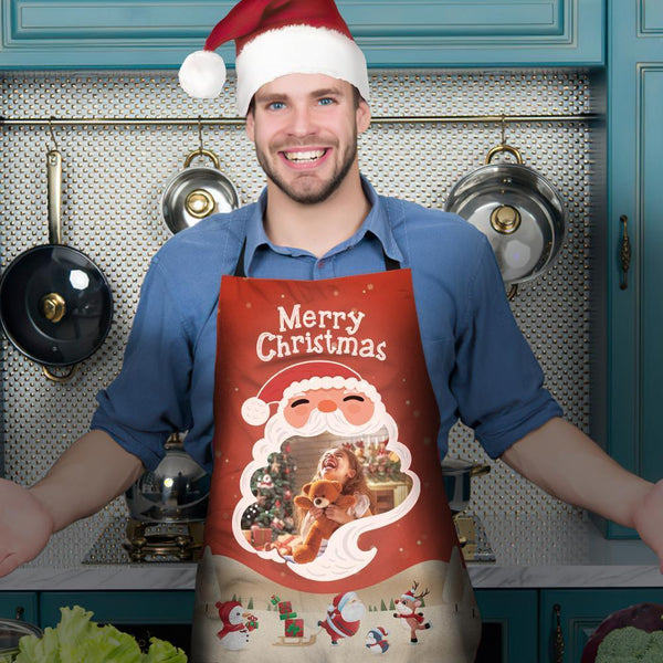 Custom Photo Kitchen Personalized Apron - MyFaceSocksUK