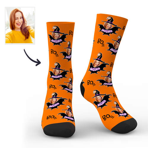 Halloween Customized Witch Socks