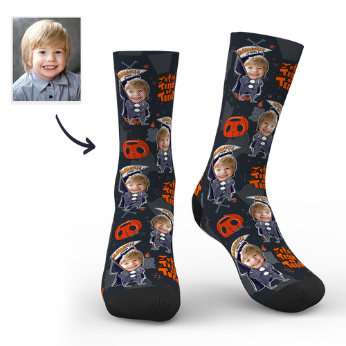 Halloween Customized Funny Pumpkin Socks