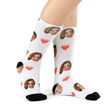 Photo Socks, Customized Love Face Socks