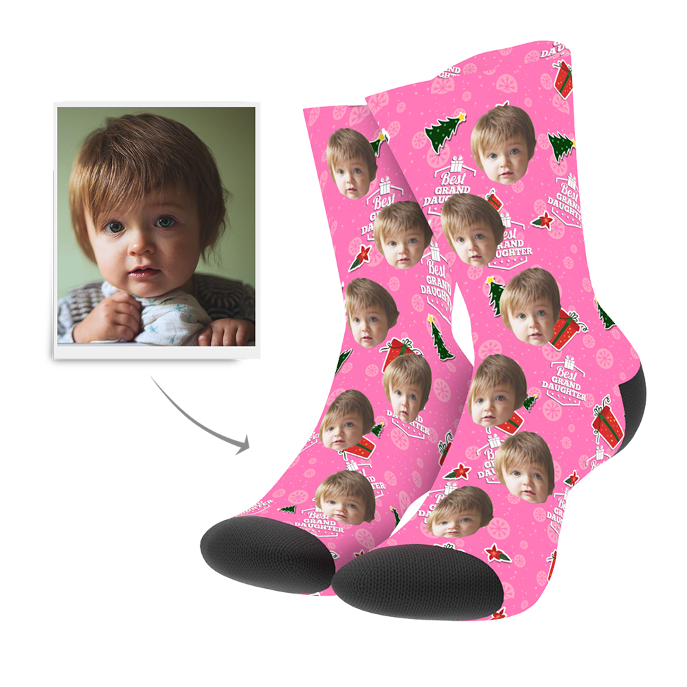 Christmas Customized Grand Daughter Socks