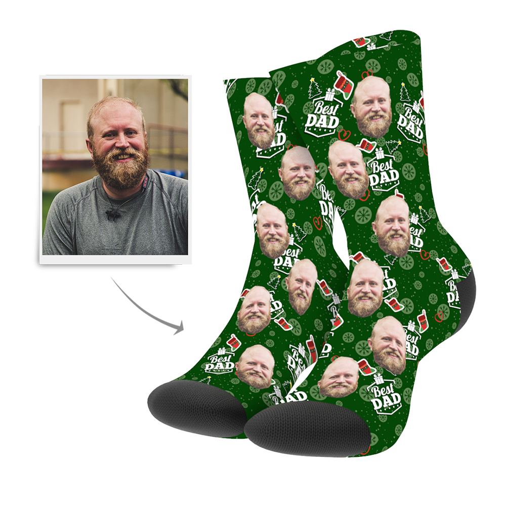 Christmas Customized Dad Socks