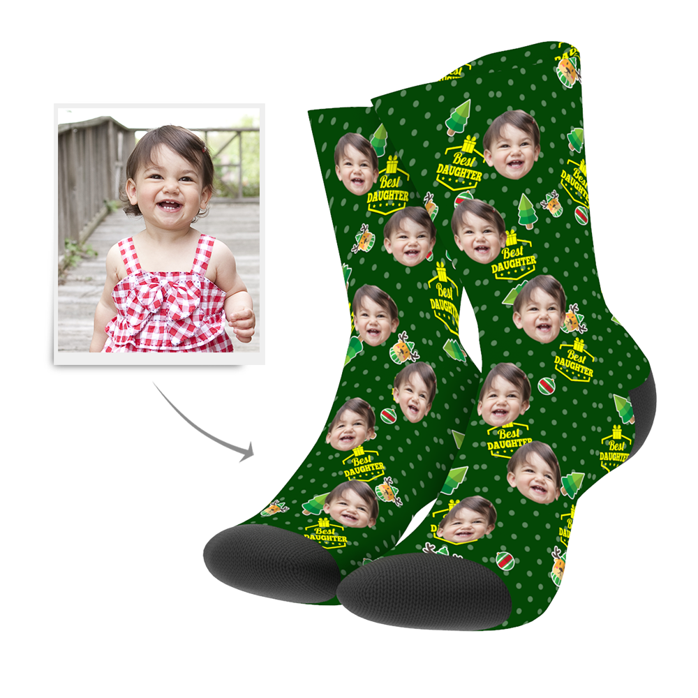 Christmas Customized Daughter Socks