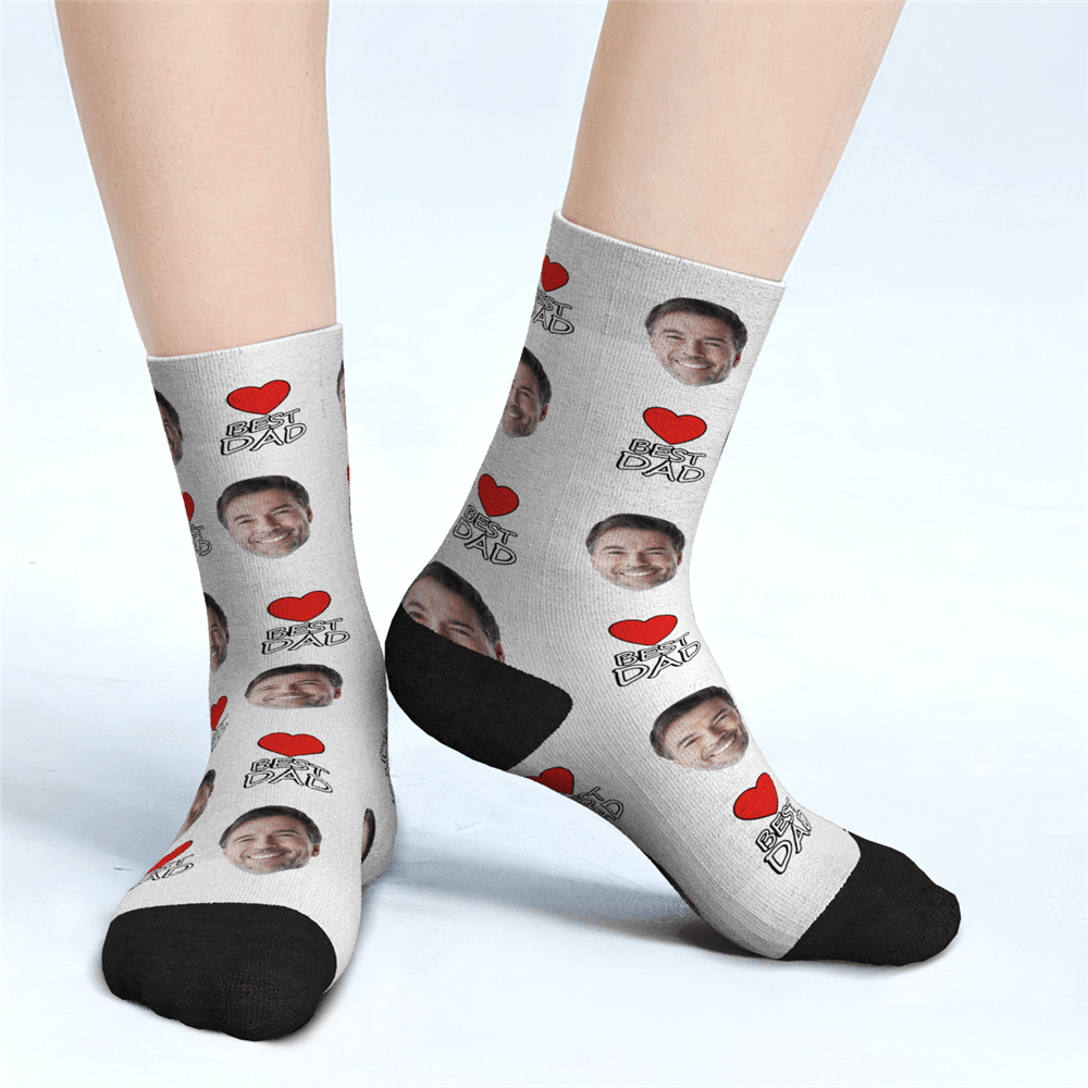 Father's Day Gifts - Custom Face Socks For Man Best Dad