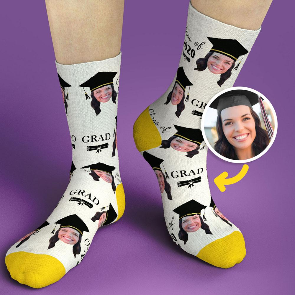 Graduation Gifts Custom Face Sock Graduation Sock Congrat Grads