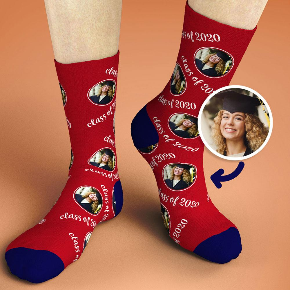 Custom Photo Sock Class of 2020 Graduation Gifts
