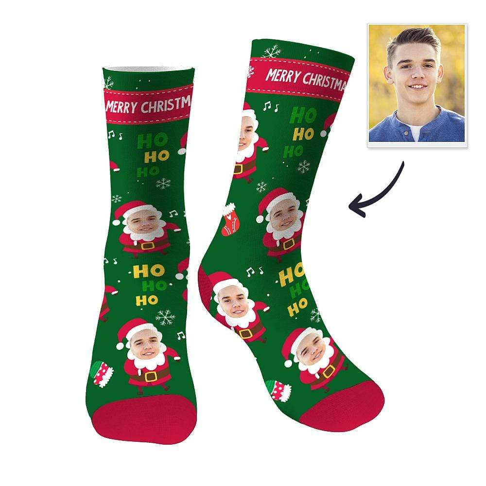 Custom Face Socks Scarf Sublimated Socks Christmas Gifts