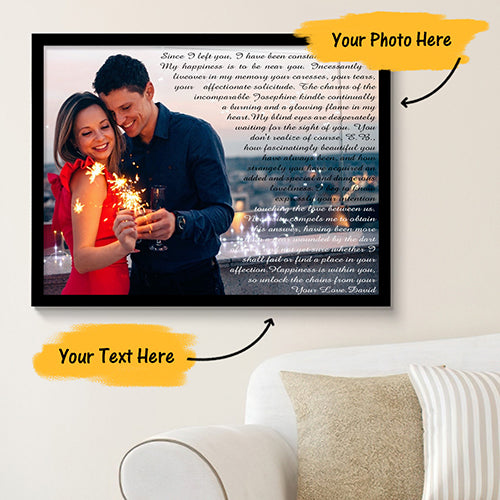 Custom Canvas Prints with Frame Photo Canvas Painting Time with You 45x30cm