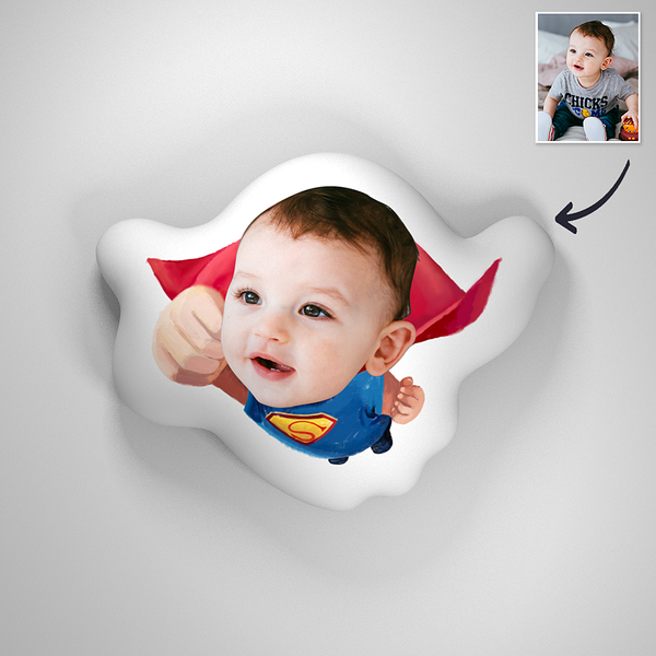Superman Baby Photo Romantic Comfortable Cute Pillow
