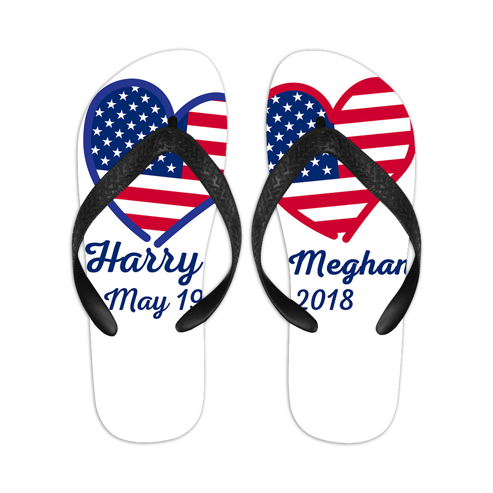 New Summer Personalized Flip-flops With Customizable Name and Date