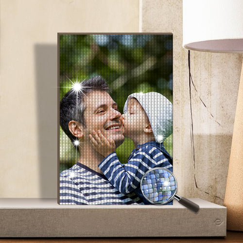 5D Custom Diamond Painting Full Square Round Rhinestone Unique Gifts 20*30cm - Father's Day Gifts