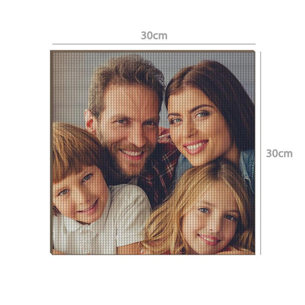 5D Custom Diamond Painting Unique Gifts 30*30cm - Love Family