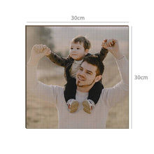 Custom Diamond Painting DIY Diamond Painting Kit Full Square Round Rhinestone Unique Gifts 30*30cm - Love Dad