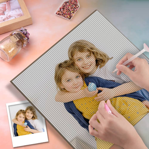 5D Custom Diamond Painting DIY Diamond Painting Kit Full Square Round Rhinestone Unique Gifts 40*40cm - Dear Friend