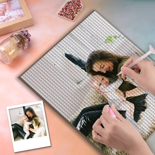 5D Custom Diamond Painting DIY Diamond Painting Kit Full Square Round Rhinestone Unique Gifts 40*50cm - Play with Mom