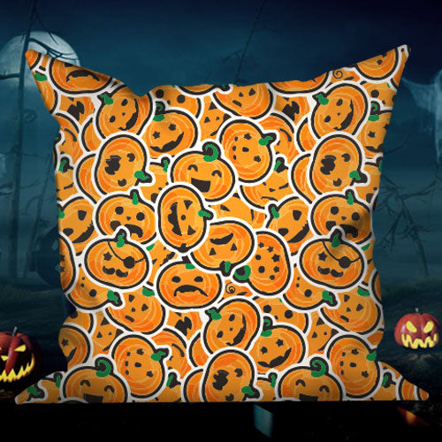 Happy Halloween Decorative Pillows Insert & Covers Halloween Pillowcases Throw Pillow Pumpkin Smash