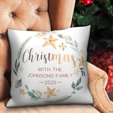 Christmas Gifts Custom White Pillow with Text for Christmas Home Decor