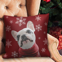 Christmas Gifts Custom Red Photo Pillow for Pet Lover