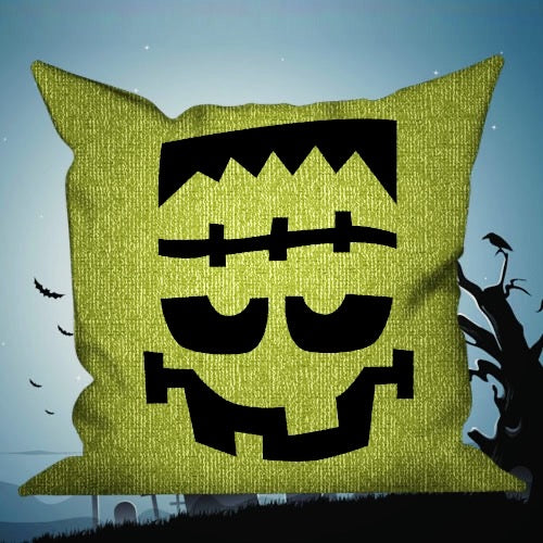 Happy Halloween Decorative Pillows Insert & Covers Halloween Pillowcases Throw Pillow Scream Now - Green