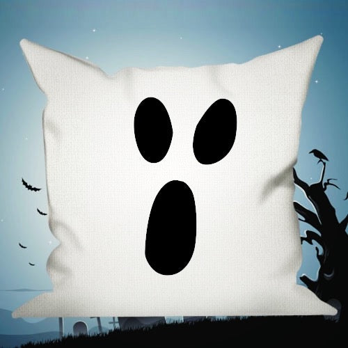 Happy Halloween Decorative Pillows Insert & Covers Halloween Pillowcases Throw Pillow Scream Now - White