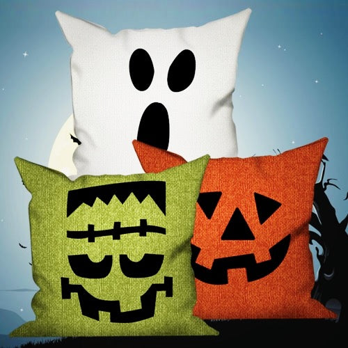 Happy Halloween Decorative Pillows Insert & Covers Halloween Pillowcases Throw Pillow Scream Now