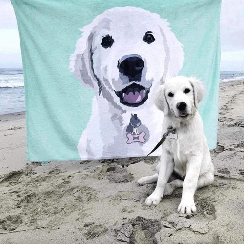 Custom Photo Blanket Painted Art Portrait Fleece Blanket