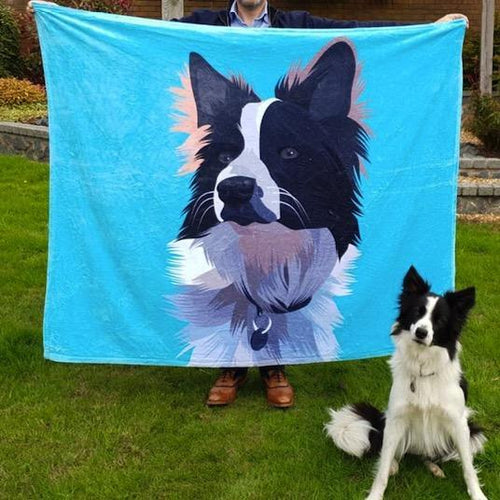 Custom Dog Blankets Personalized Pet Photo Blankets