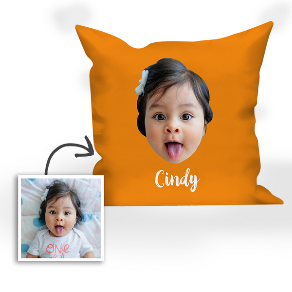 Multi-color Custom Engraved Baby Photo Pillow