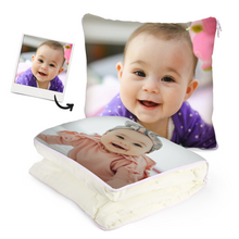 "Custom Baby Photo Quillow - Multifunctional Throw Pillow and Quilt 2 in 1 - 47.25""x55.10"""
