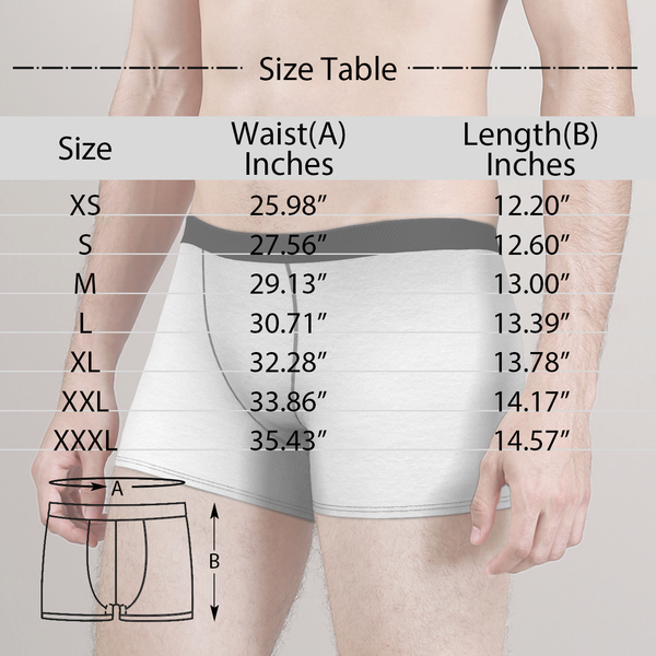 Men's Christmas Gifts Solid Color Customized Face Boxer Shorts