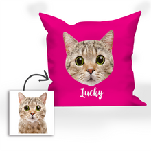Multi-color Custom Engraved Cat Photo Pillow