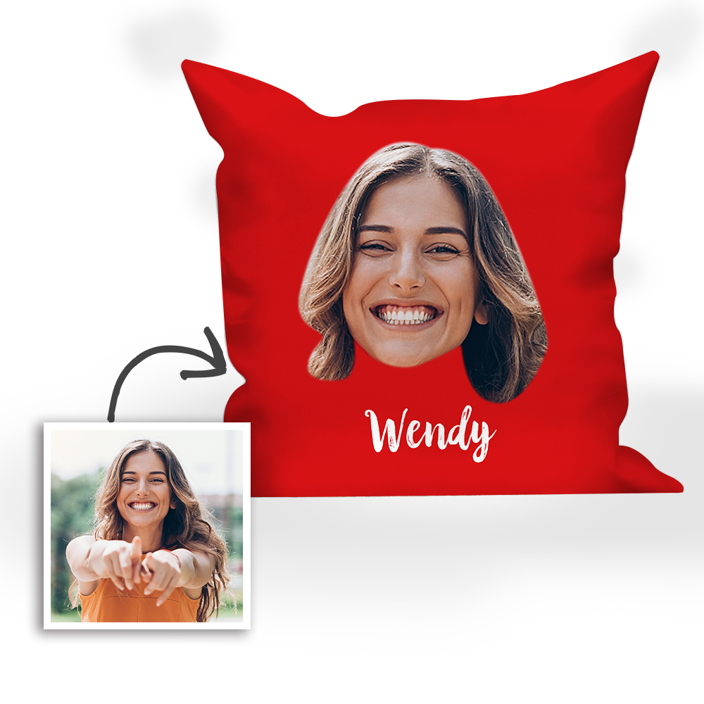 Multi-color Custom Engraved Mother Photo Pillow