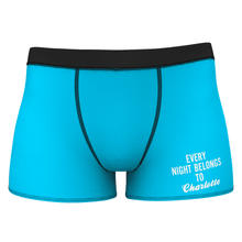 Every Night Belongs to Girlfriend Name Men's Shorts Boxer