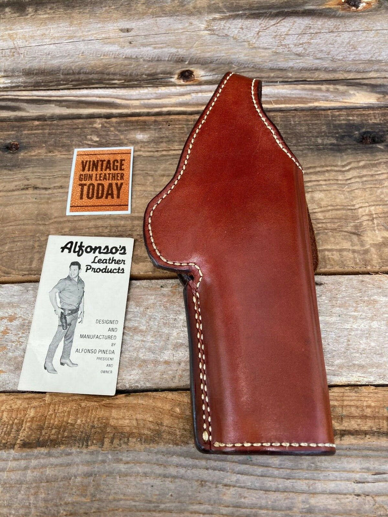 Alfonso's Brown Leather Suede Lined Holster For Ruger P85 P89 Strong or Cross
