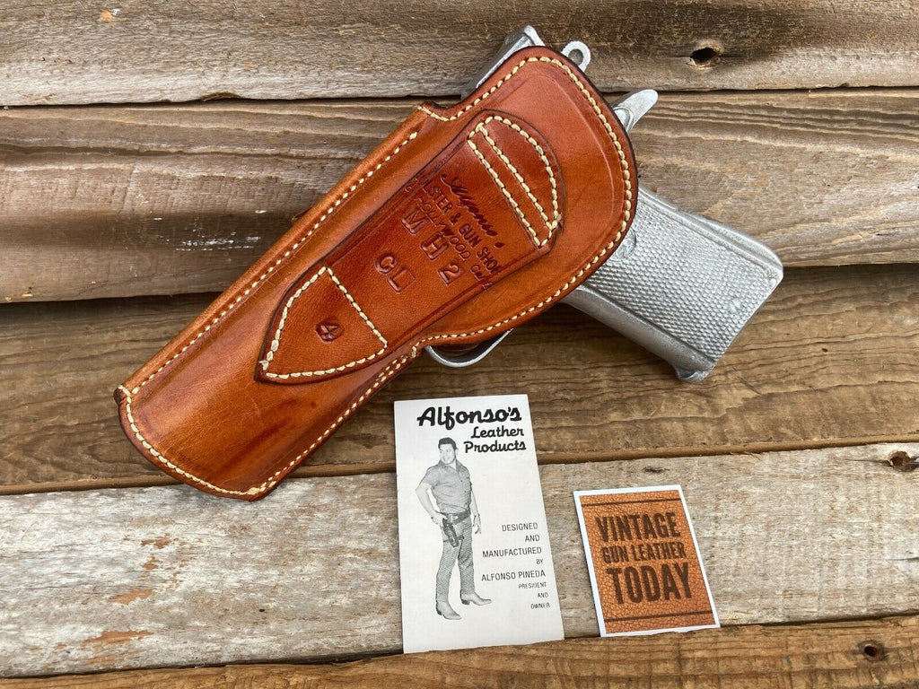 Vintage Alfonso's Brown Leather Sued Lined Holster for Colt .45 1911 Commander