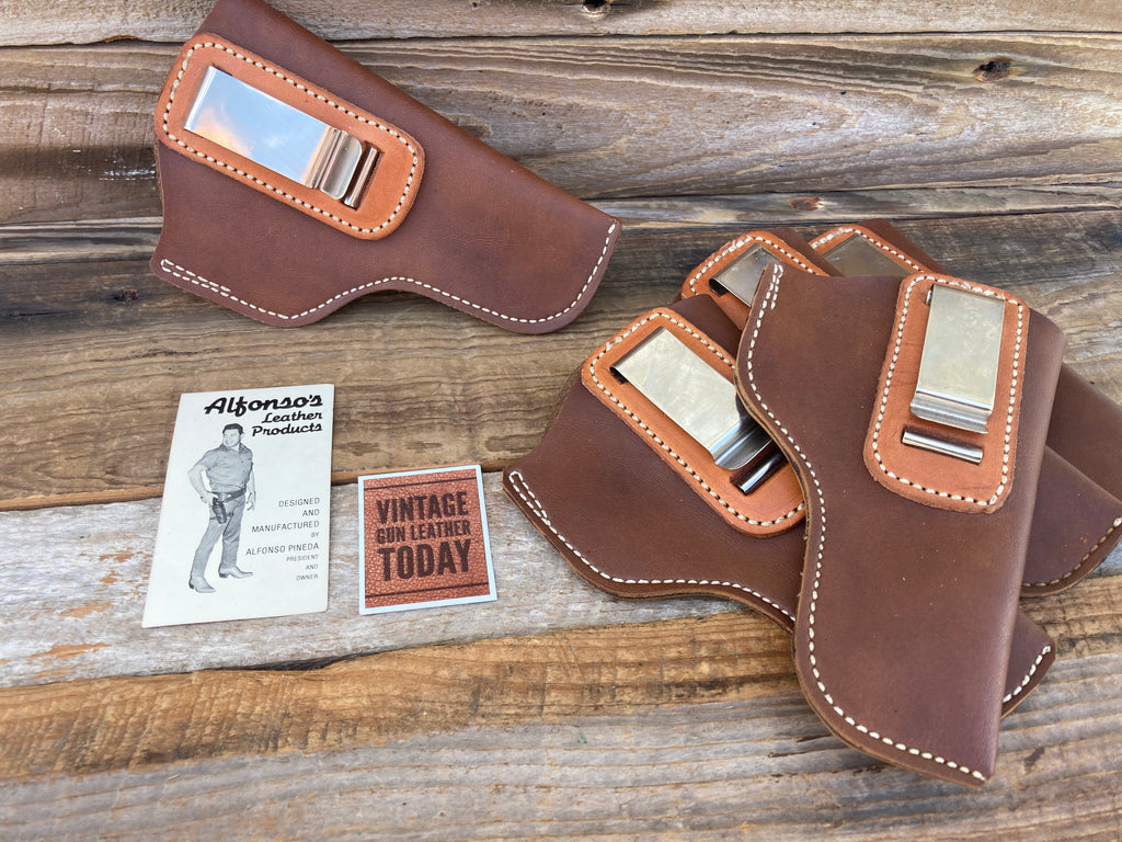 Alfonso's Brown Leather IWB Holster For S&W Small J Frame Revolver 3""