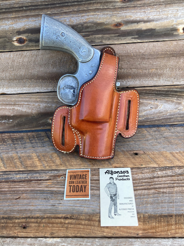 "Alfonso's Plain Brown F60 Lined Holster For Colt Python L Frame 686 2.5"" Open"