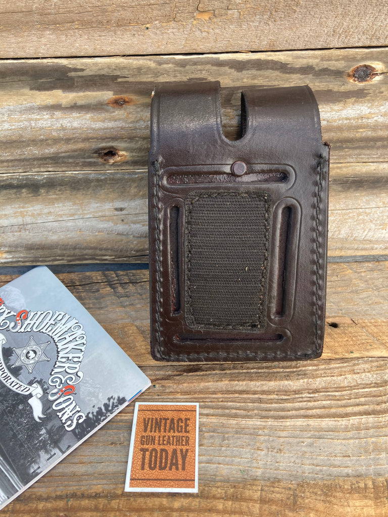 Tex Shoemaker Cordovan Brown Quad Magazine Pouch For GLOCK 19 17