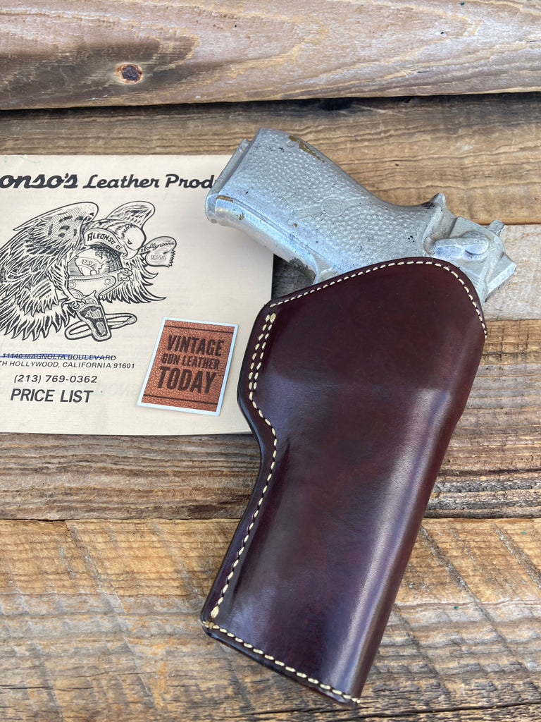 Alfonsos Of Hollywood Cordovan Leather Lined Holster For S&W 4506 Reinforced Lip