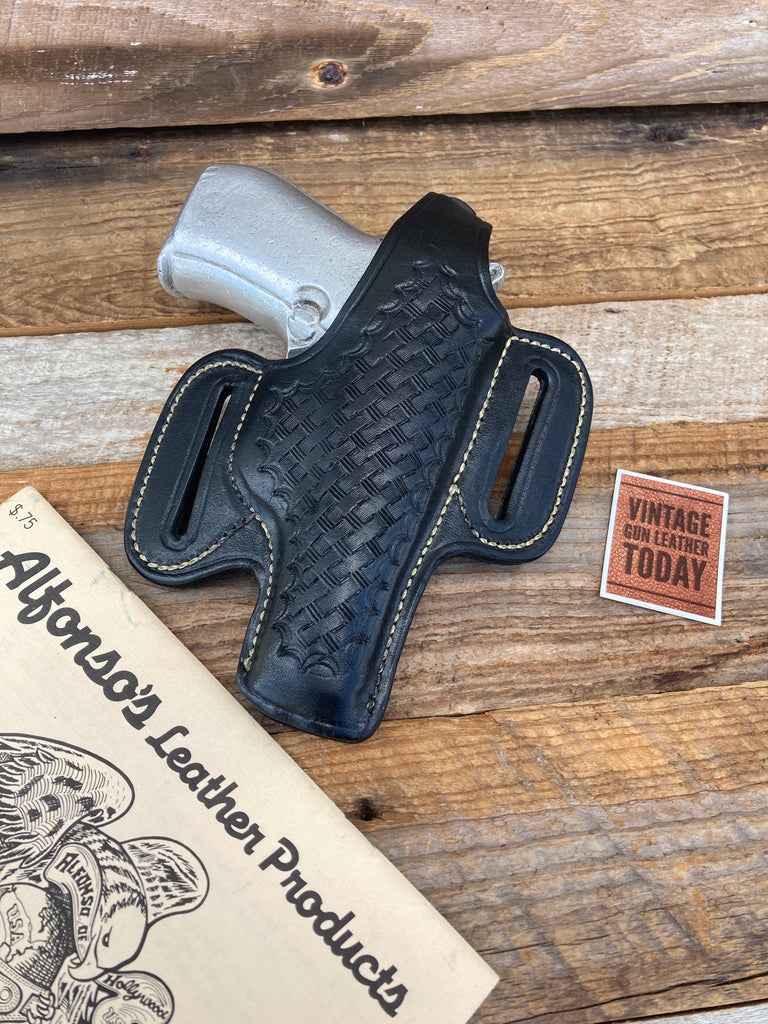 Alfonso's Black Basketweave White Stitched OWB Holster For Beretta 84 Sig P230