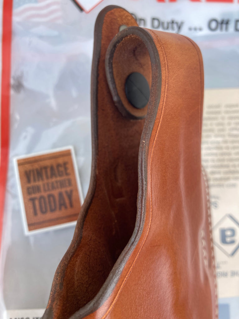 Discontinued AKER Leather Brown Leather Bodyguard OWB Holster For GLOCK 35