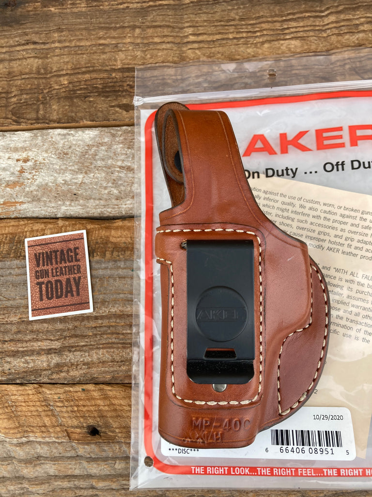 AKER Discontinued Brown Leather IWB Spring Special Holster For S&W M&P 40C